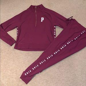 vs pink sweatsuit